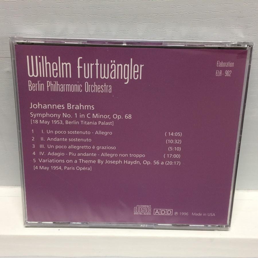 未開封 CD 交響曲第1番 フルトヴェングラー / ブラームス / ベルリンフィル / シールド ELA-902 ICR_画像2