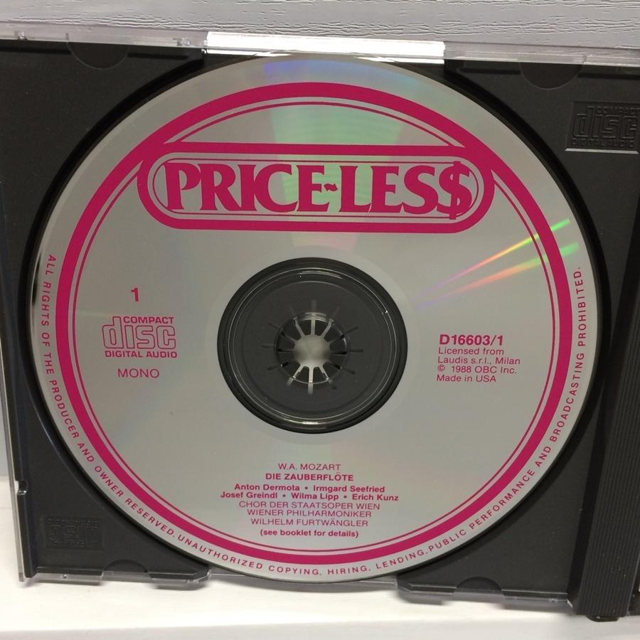 3CD MONO PRICE-LESS DIE ZAUBERFLOTE 魔笛 モーツァルト / フルトヴェングラー D16603 ICR_画像4
