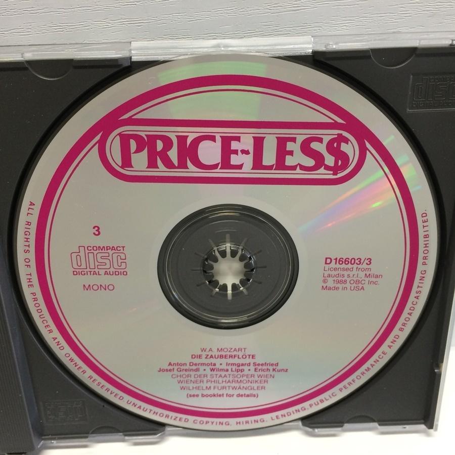 3CD MONO PRICE-LESS DIE ZAUBERFLOTE 魔笛 モーツァルト / フルトヴェングラー D16603 ICR_画像6