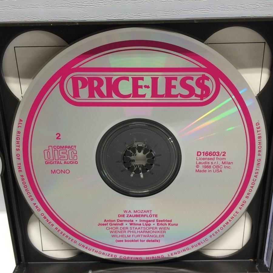 3CD MONO PRICE-LESS DIE ZAUBERFLOTE 魔笛 モーツァルト / フルトヴェングラー D16603 ICR_画像5