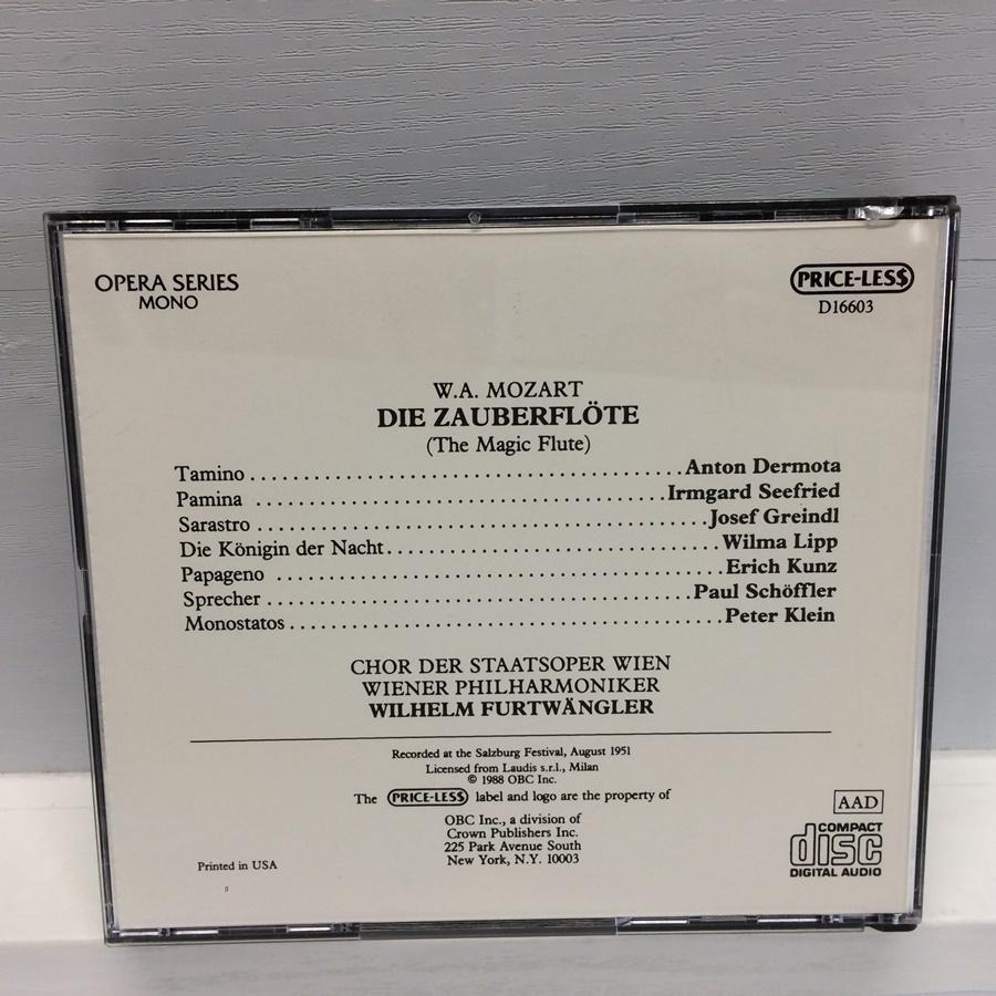 3CD MONO PRICE-LESS DIE ZAUBERFLOTE 魔笛 モーツァルト / フルトヴェングラー D16603 ICR_画像2