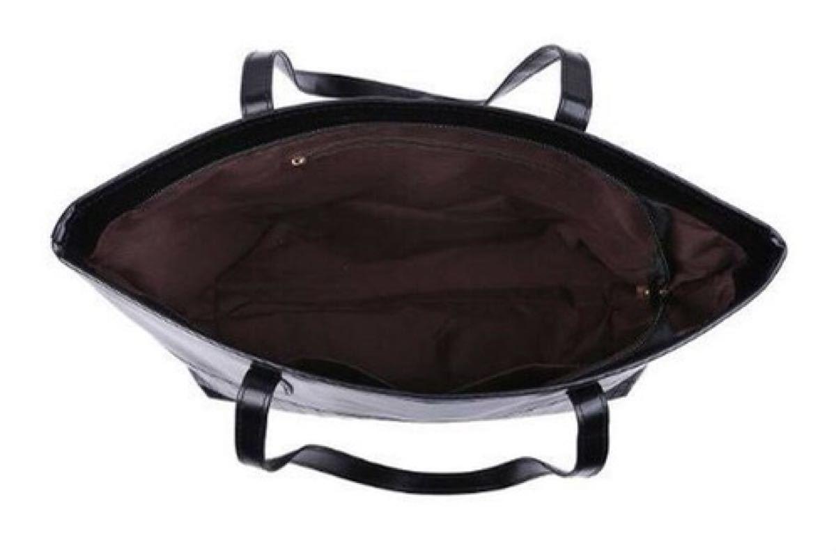 トートバッグ 手提げバッグ ショルダーバッグ レディース レザー A4 黒