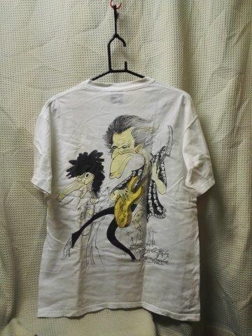 000010 バンドTシャツ ローリングストーンズ 白 ヴードゥーラウンジツアー ヴィンテージ 袖シングルステッチ ROLLING STONES_画像5