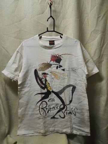 000010 バンドTシャツ ローリングストーンズ 白 ヴードゥーラウンジツアー ヴィンテージ 袖シングルステッチ ROLLING STONES_画像1