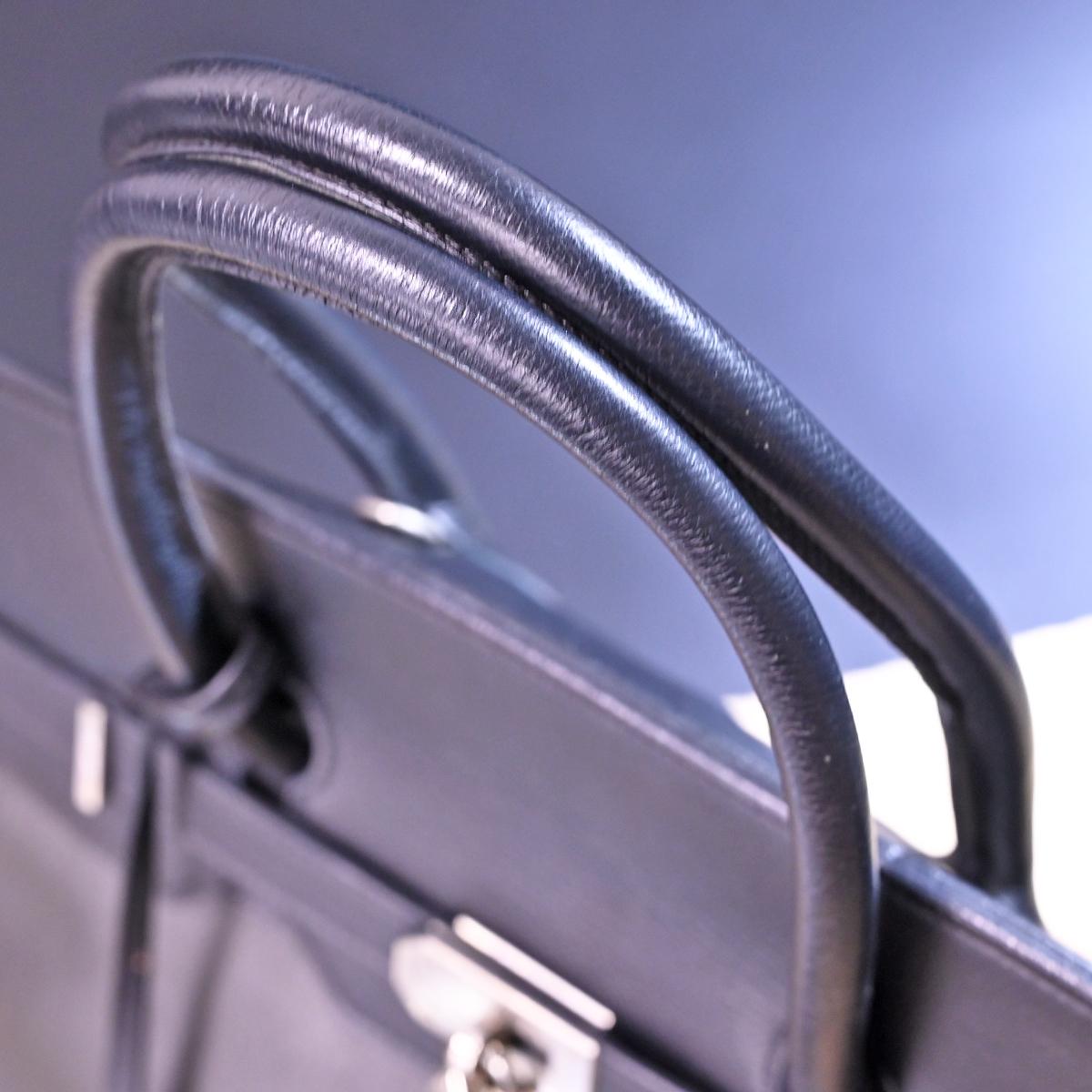 本物 チェレリーニ 極希少 ラージサイズ 2WAYフルレザー鍵付きメンズダッフルバッグ A4書類バーキン型ビジネスバッグ CELLERINI_画像5