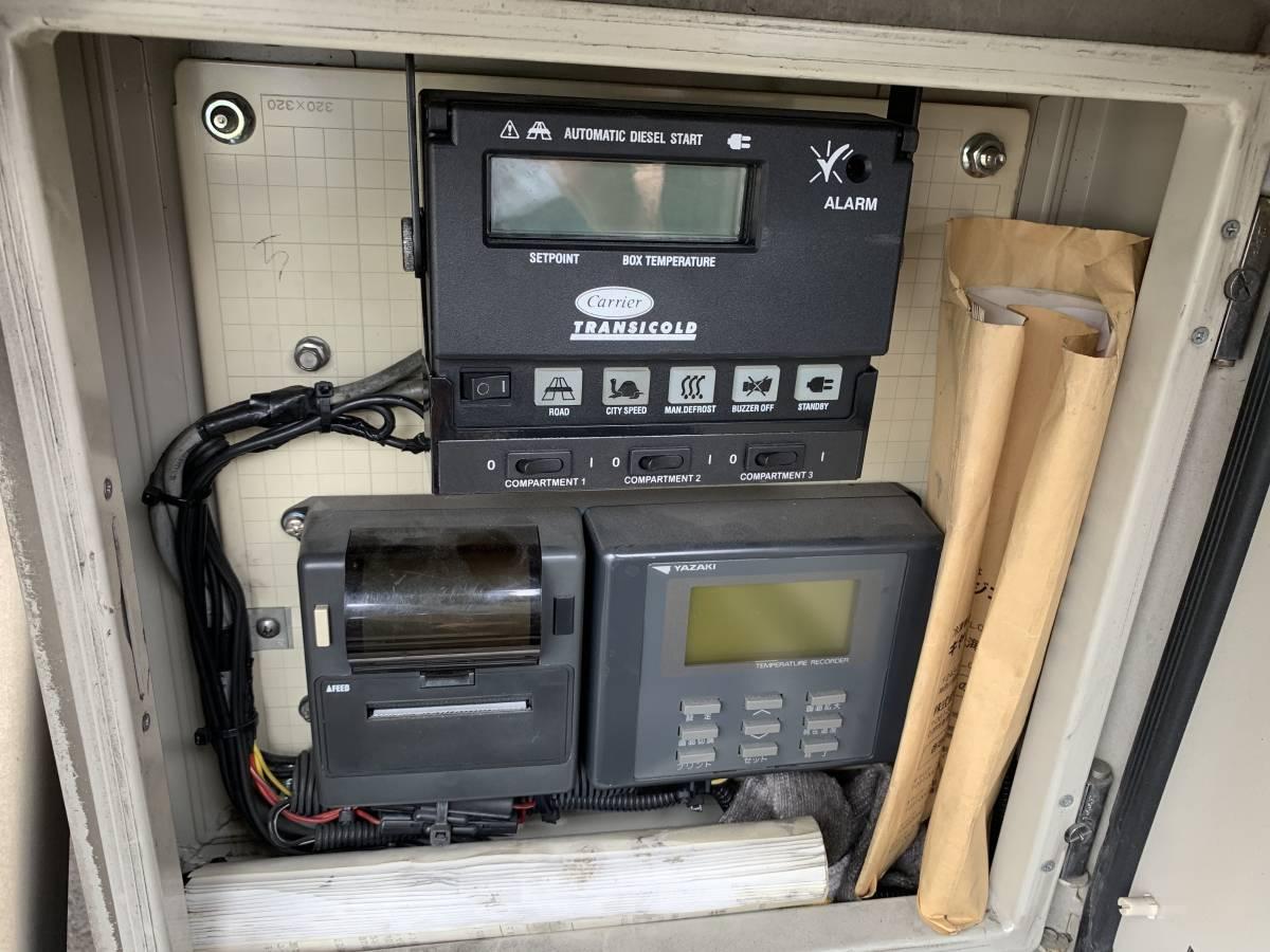 中古 H21年トレックス 冷蔵冷凍 セミトレーラ _温度取り計とプリンター