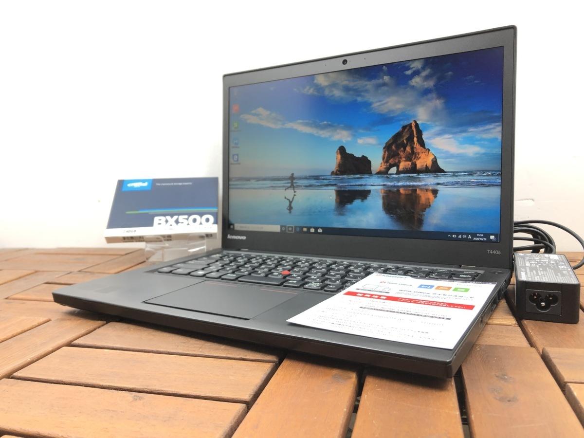 14インチ/Win10/office搭載/Webカメラ搭載/ビデオ通話対応【Lenovo レノボ/ThinkPad T440S】Core i5-4210U/メモリ4GB/新品SSD240GB_画像1