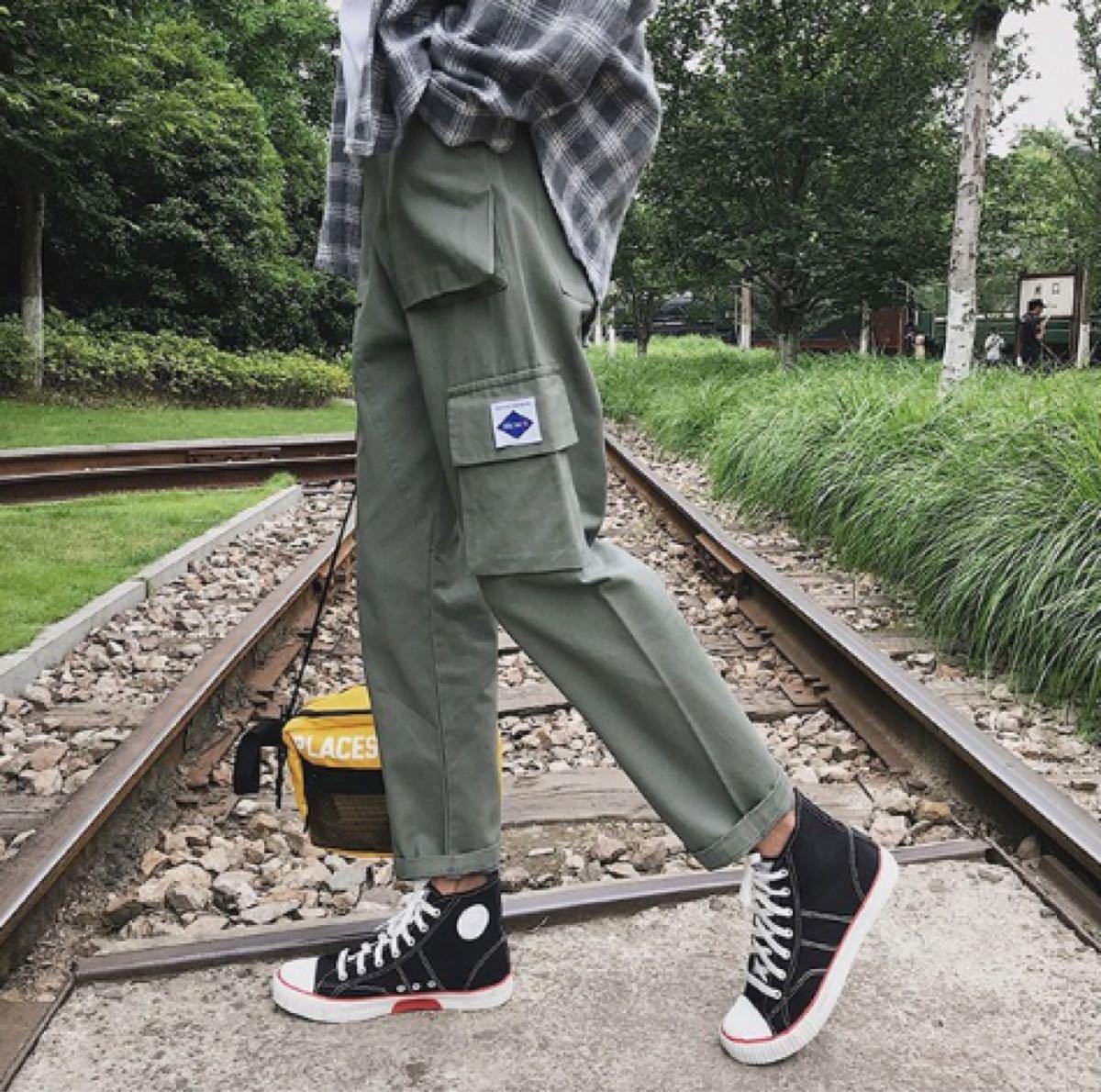 カーゴパンツ/ワークパンツ ストリート系 韓国