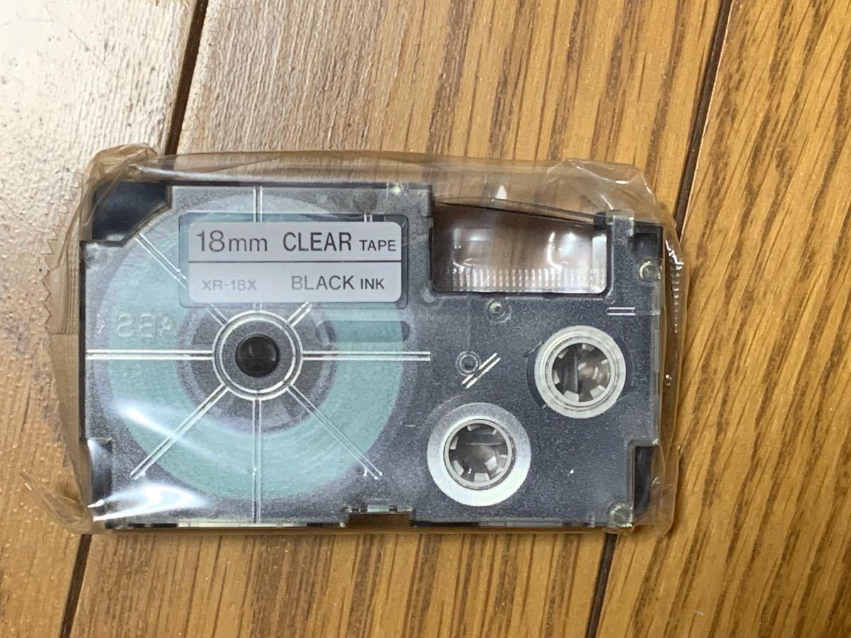 CASIO ネームランド テープ 透明テープ 黒文字