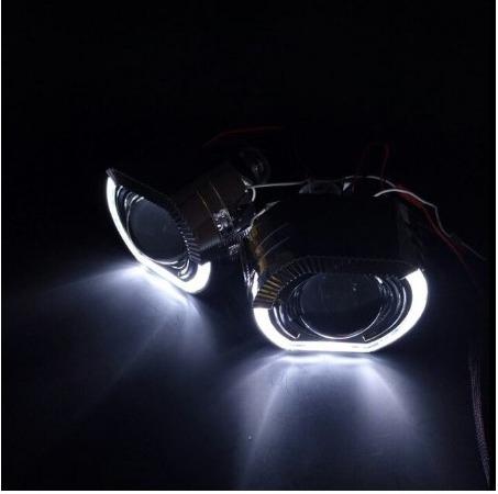 SinolynヘッドライトレンズLEDエンジェルアイズバイキセノン2.5悪魔の目ヘッドランププロジェクターH4 H7 H1カーライトアクセサリー_画像2