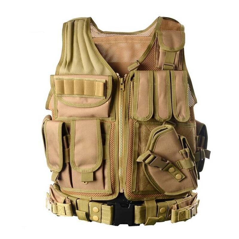戦術的な機器軍事 molle vest 狩猟鎧陸軍ギアエアガンペイントボール戦闘保護ベスト cs ウォーゲーム_画像4