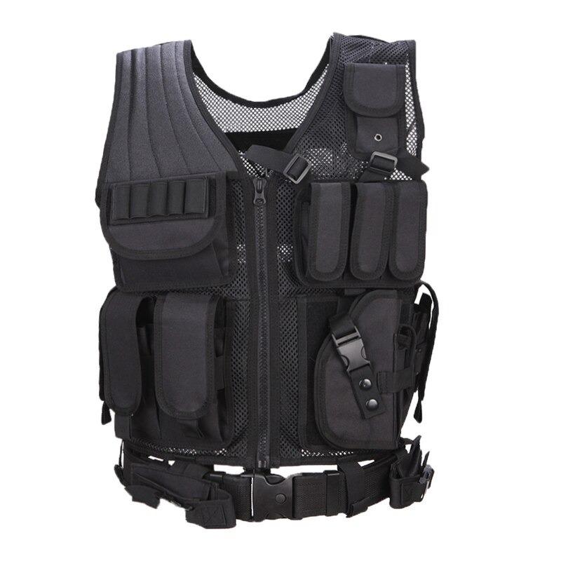 戦術的な機器軍事 molle vest 狩猟鎧陸軍ギアエアガンペイントボール戦闘保護ベスト cs ウォーゲーム_画像2