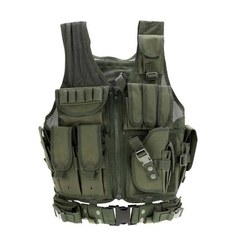 戦術的な機器軍事 molle vest 狩猟鎧陸軍ギアエアガンペイントボール戦闘保護ベスト cs ウォーゲーム_画像3