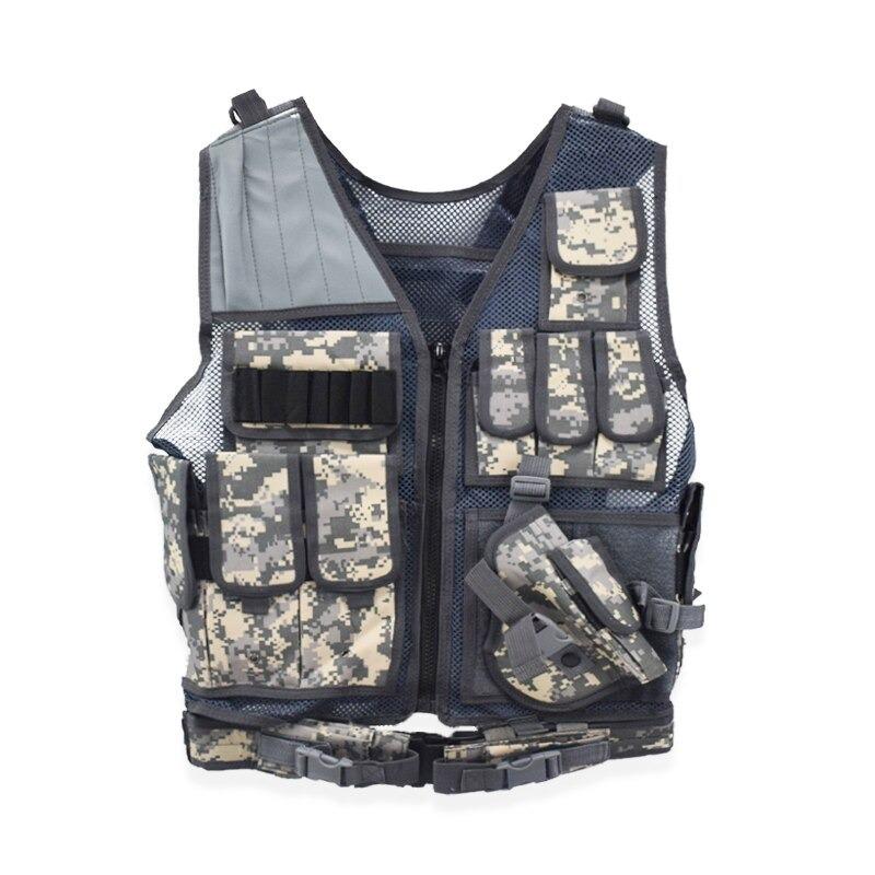 戦術的な機器軍事 molle vest 狩猟鎧陸軍ギアエアガンペイントボール戦闘保護ベスト cs ウォーゲーム_画像1