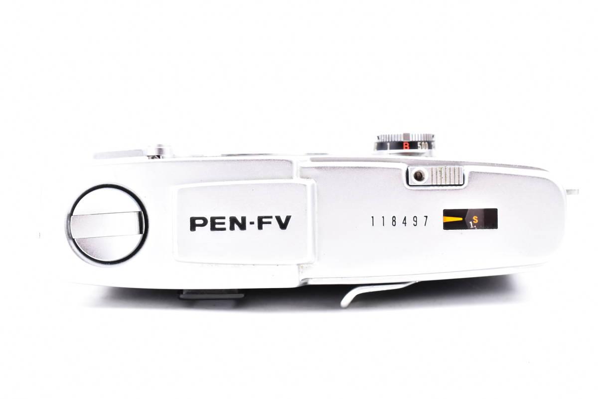 OLYMPUS オリンパス PEN-FV シルバー F.Zuiko Auto-S 38mm f/1.8 一眼レフ 35mm フィルムカメラ_画像5