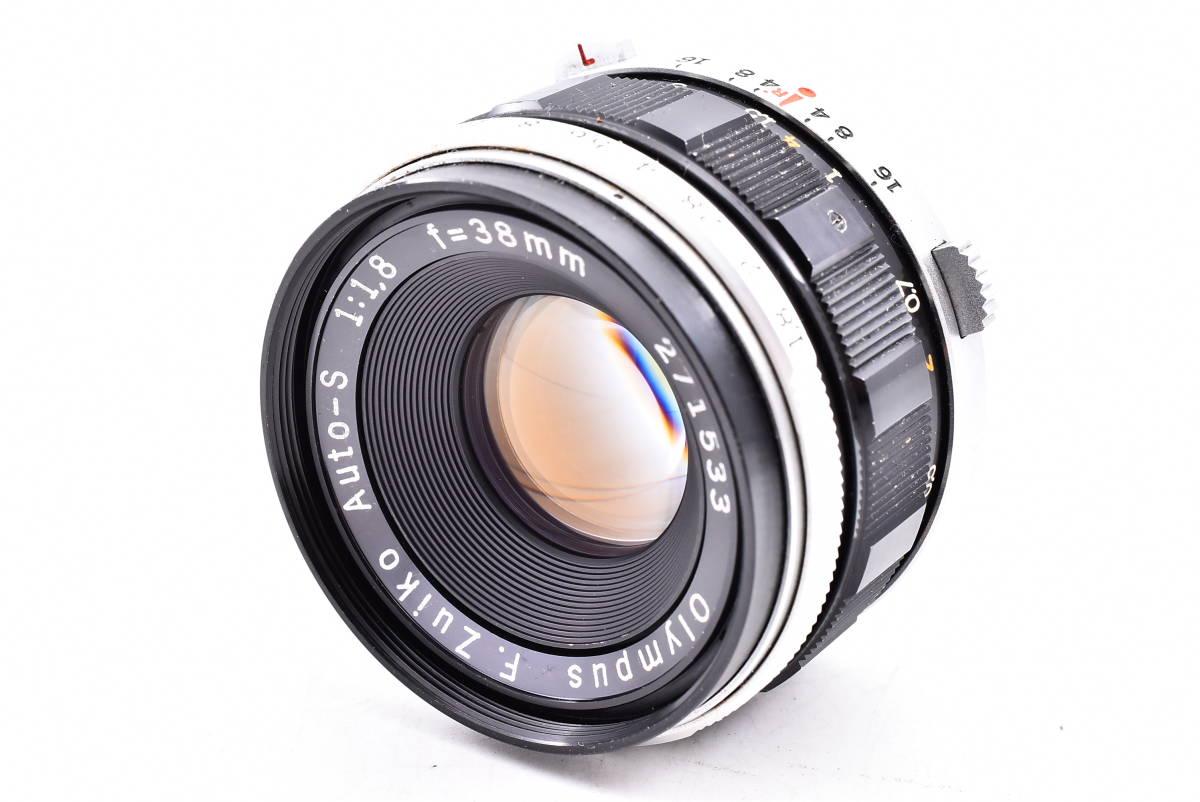 OLYMPUS オリンパス PEN-FV シルバー F.Zuiko Auto-S 38mm f/1.8 一眼レフ 35mm フィルムカメラ_画像8