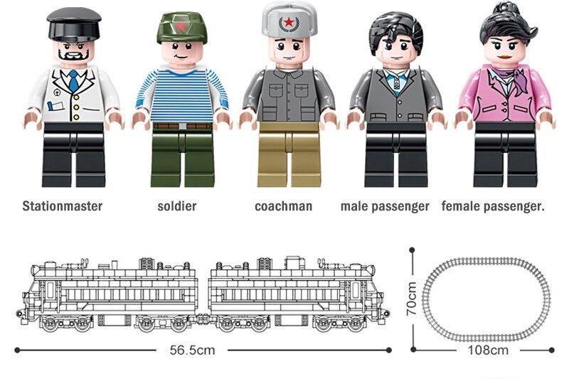 LEGO互換 電気機関車_画像3
