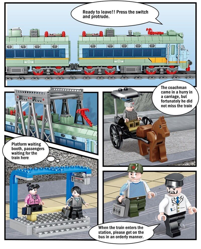 LEGO互換 電気機関車_画像4