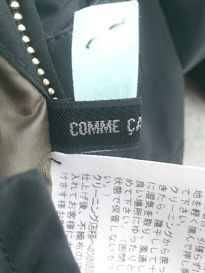 ■ COMME CA DU MODE コムサデモード リバーシブル 長袖 フェイクファーダウン ジャケット 15 ブラック カーキ * 1002798200807_画像7