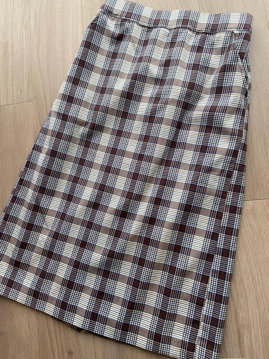 タイトロングスカート チェック柄 Lサイズ 美品 ウエスト後ゴム
