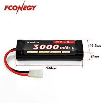 ニッケル水素バッテリー NiMH電池 7.2V大容量 3000mAh タミヤプラグ付き