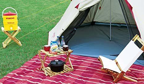 キャンプ ベランダ 収納棚 W460mm 高さ2段階調節可能 収納