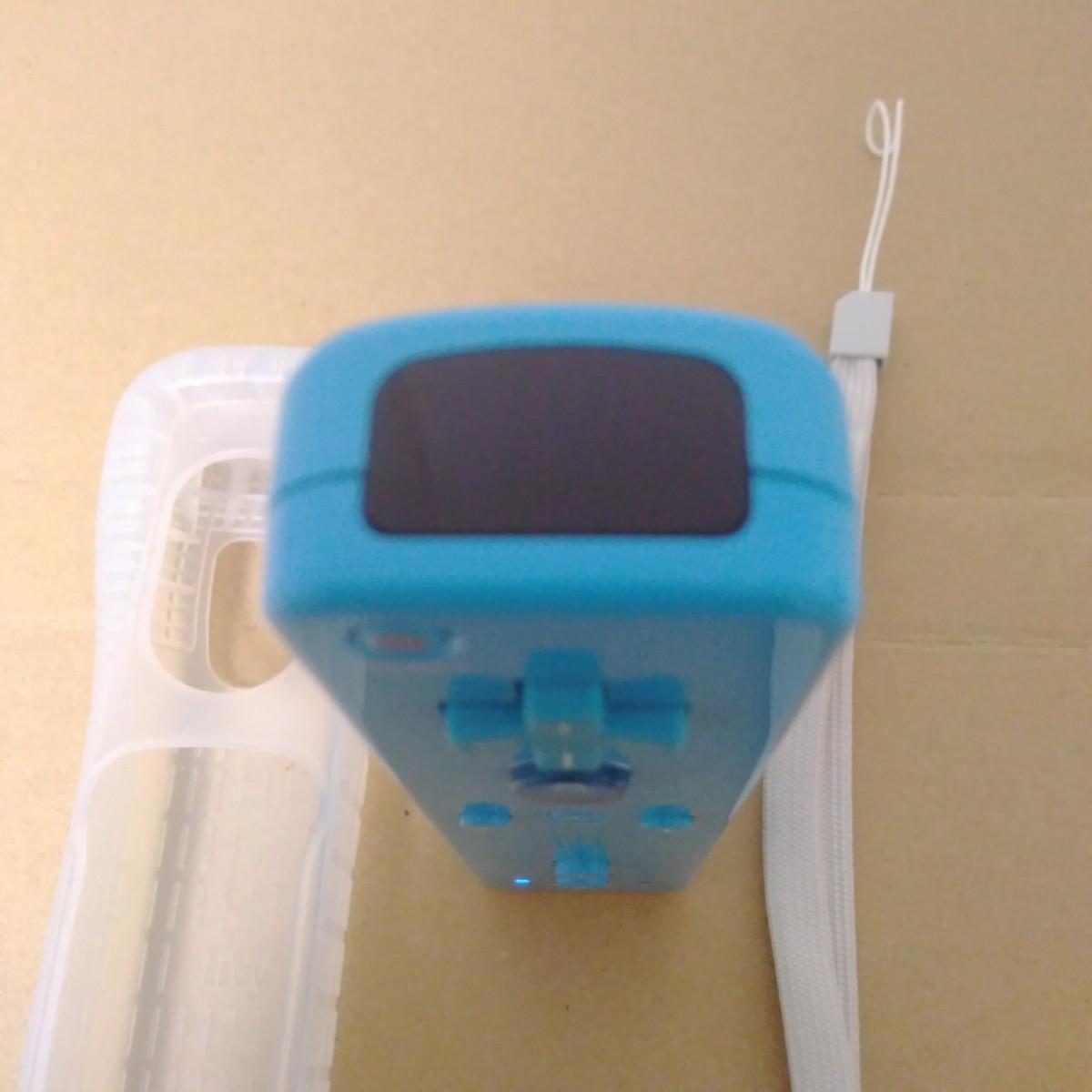 Wiiリモコンプラス ブルー ストラップ・シリコンジャケット 付