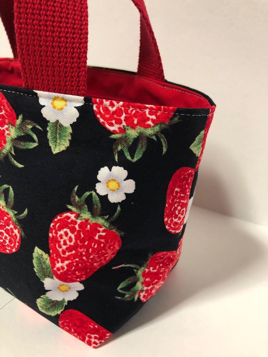 ハンドメイドミニトートバッグ(巾着袋付き)
