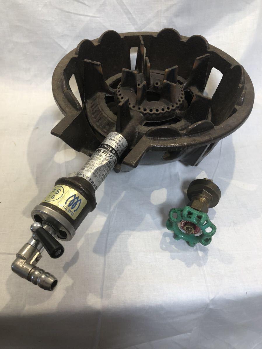 鋳物コンロ タチバナ製作所 TS-510 都市ガス 業務用 ジャンク扱い品 厨房機器 _画像5