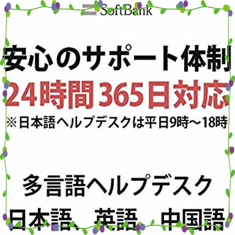 10GB Softbank 日本 プリペイドSIM 10GB 4GLTE対応 最大6ヶ月間有効_画像5