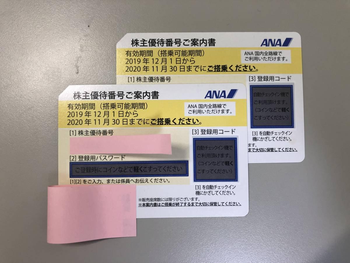 【株主優待券】ANA 全日空 2021年5月末まで延長 国内航空券50%引き_画像1