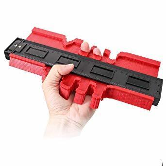 250mm レッド 250mm 型取りゲージ コンターゲージ 250mm 測定ゲージ 測定工具プラスチック製 目盛付き(レッド)_画像4