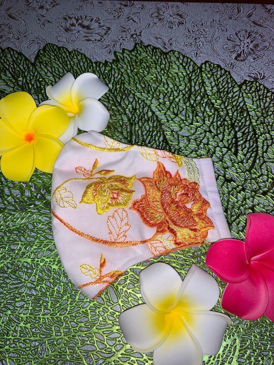 ハンドメイド手作り立体インナー刺繍レース【接触冷感メッシュ布】