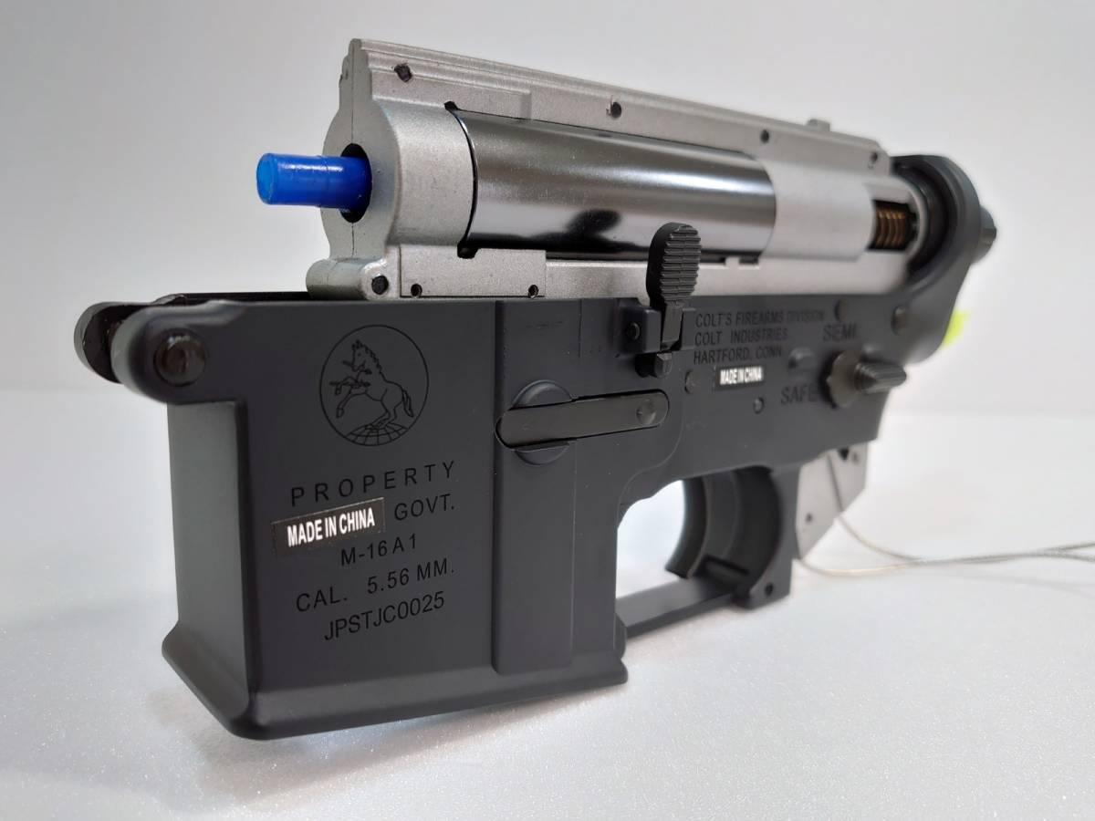 【新品取り外し】CYMA ETU M16A1電子トリガーメカボックス&メタルロアフレーム