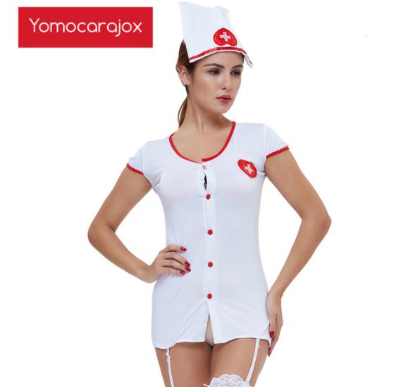 新セクシーなホットナースエロ衣装 メイドランジェリーロールプレイ 女性下着ゲームコスプレ制服 ベビードールセックスドレス性的_画像1