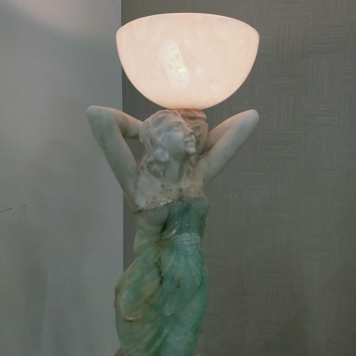 透明感ある天然石の最高級ビーナス ランプ 照明 H約138 150万円 照明器具 オブジェ フロアスタンド_画像3