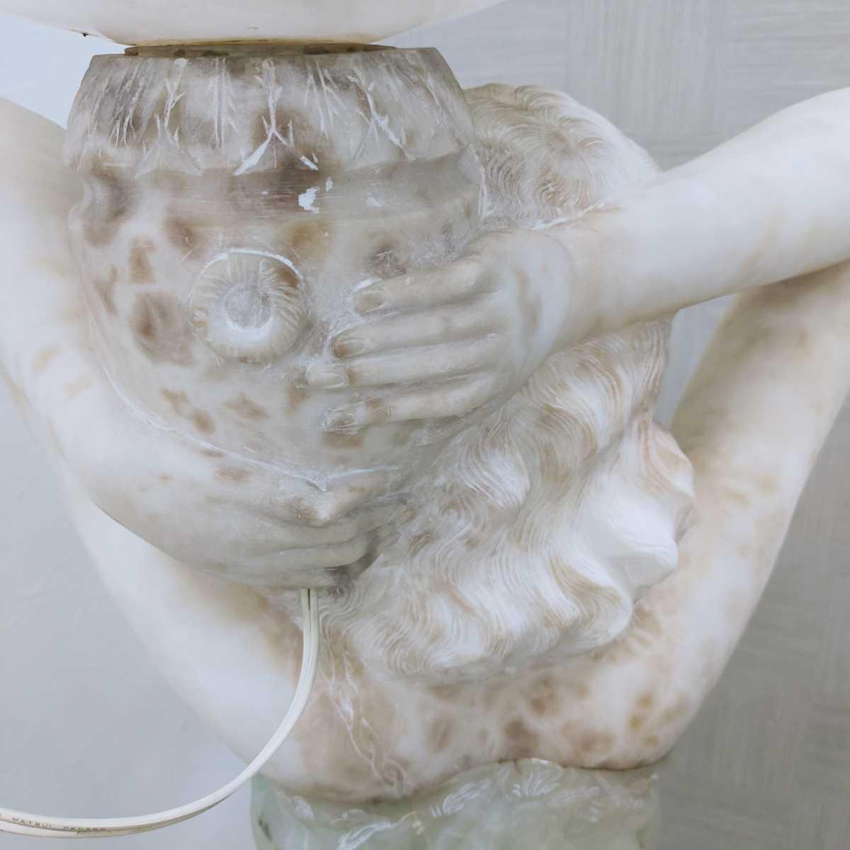 透明感ある天然石の最高級ビーナス ランプ 照明 H約138 150万円 照明器具 オブジェ フロアスタンド_画像8