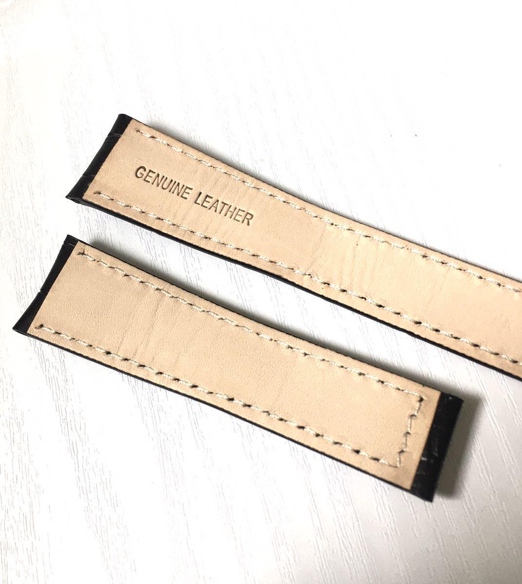 腕時計 交換用 レザー 革ベルト 22mm ブラック 黒 【対応】タグホイヤー TAG HEUER カレラ等_画像5