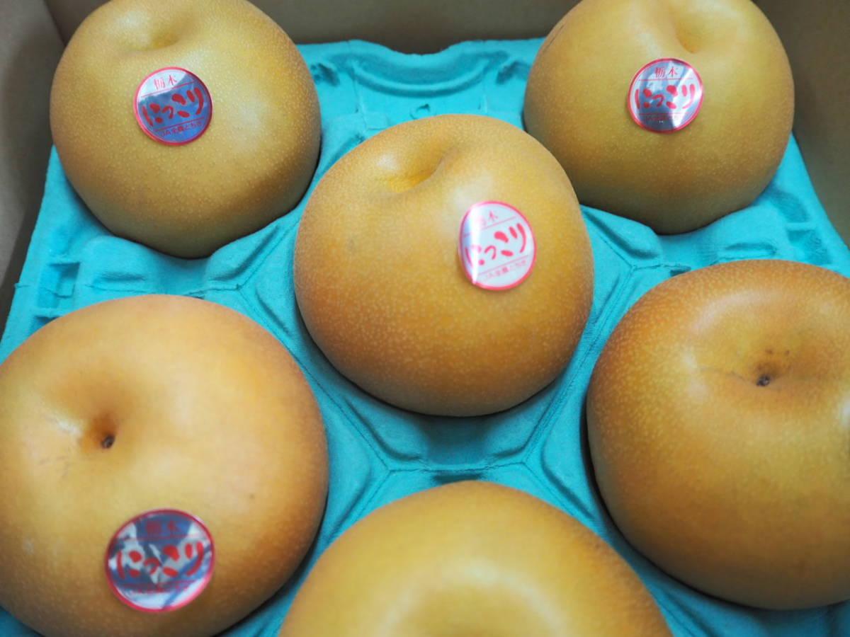緊急出品栃木産梨『にっこり』1箱6から10玉