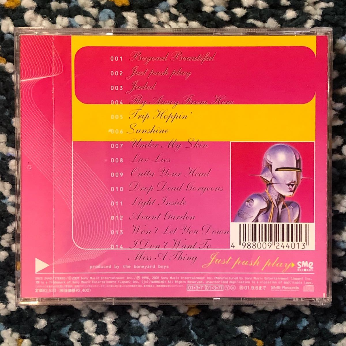 【国内盤CD】エアロスミス『ジャスト・プッシュ・プレイ』