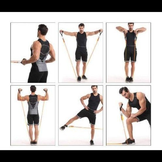 トレーニングチューブ 超強化 チューブトレーニング 腕、背中、脚、胸部、腹部