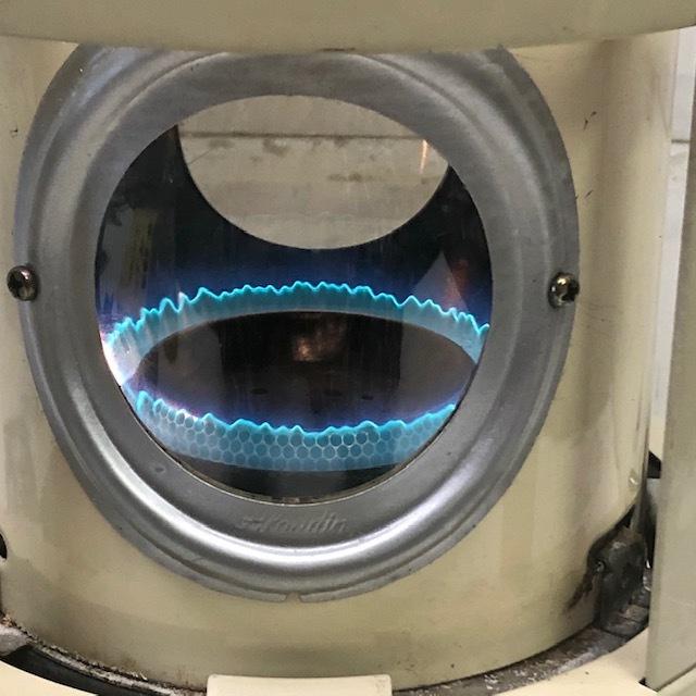 整備品 芯・マイカ交換◆アラジン ブルーフレーム 石油ストーブ 39型 J390001_画像8
