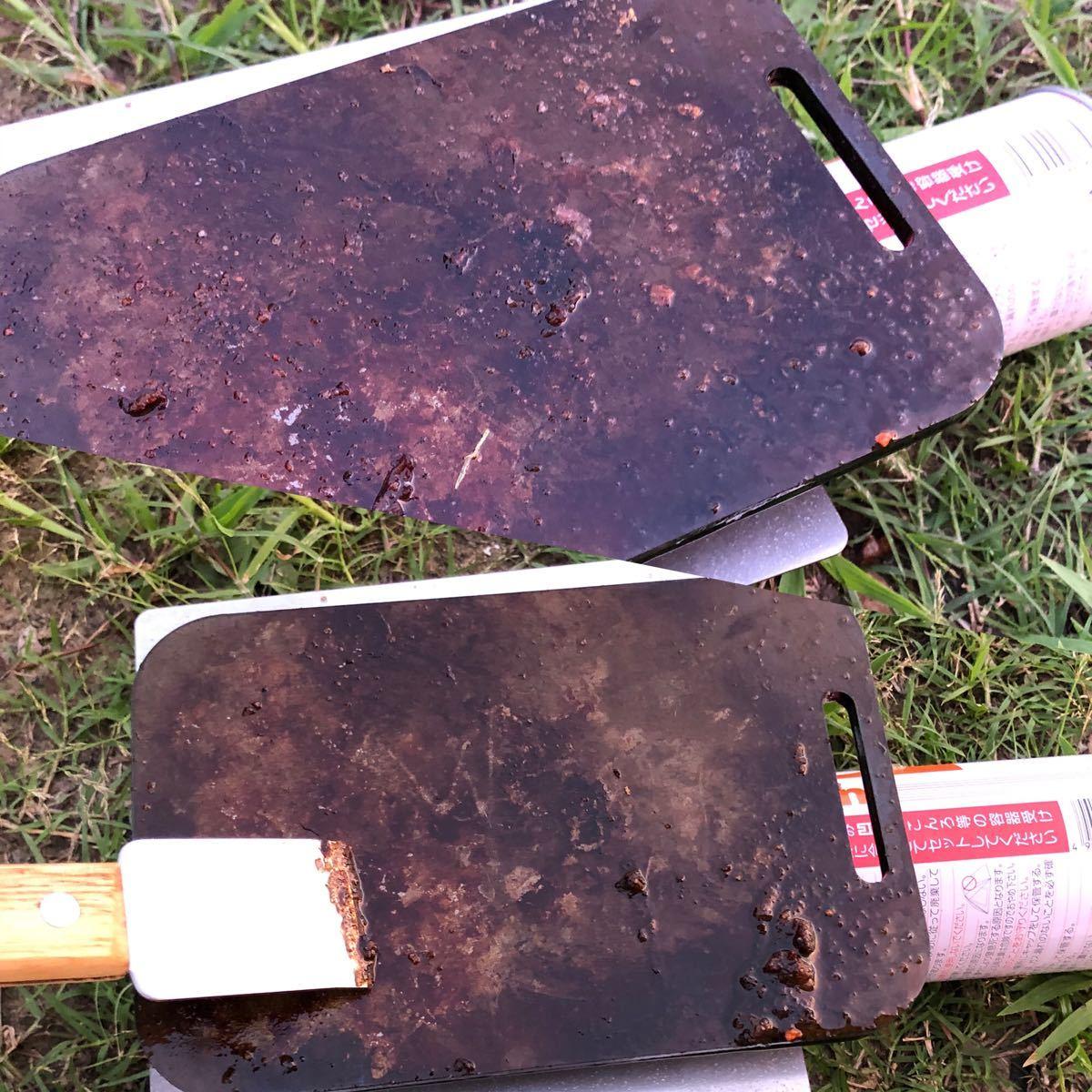 ラージメスティン 収まる 6ミリ 黒皮鉄板 鉄板 ヘラ スクレイパー