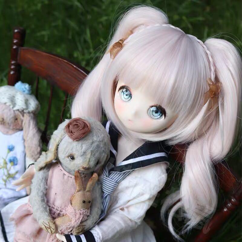 BJDドール用ウィッグ MDD/SD/DDサイズ 8-9インチ ツインテール 球体関節人形 doll 女用_画像1