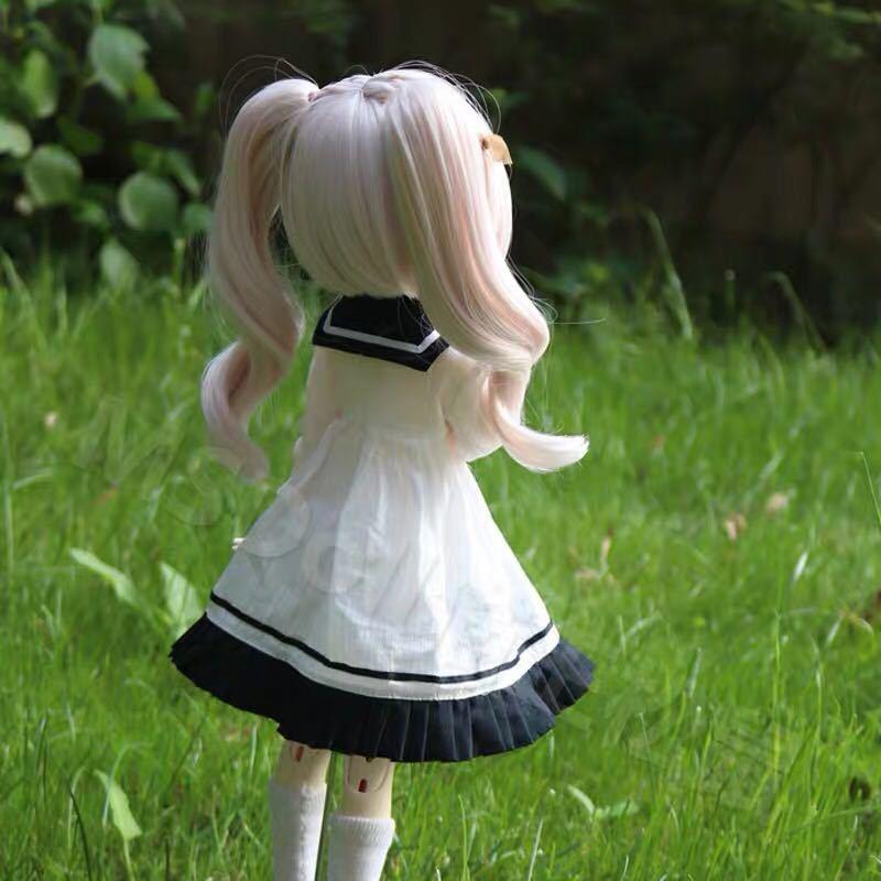 BJDドール用ウィッグ MDD/SD/DDサイズ 8-9インチ ツインテール 球体関節人形 doll 女用_画像4