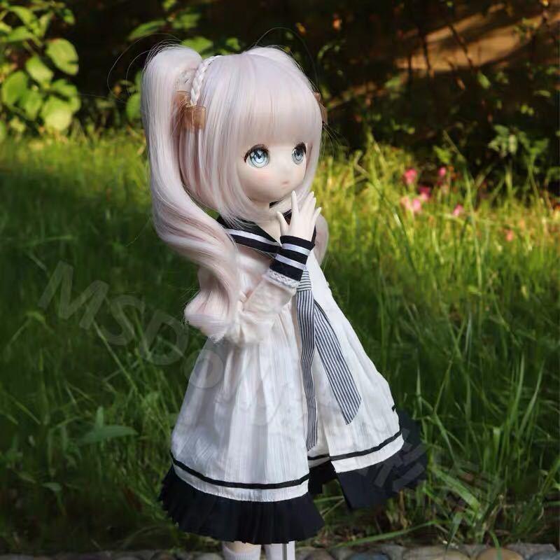 BJDドール用ウィッグ MDD/SD/DDサイズ 8-9インチ ツインテール 球体関節人形 doll 女用_画像5