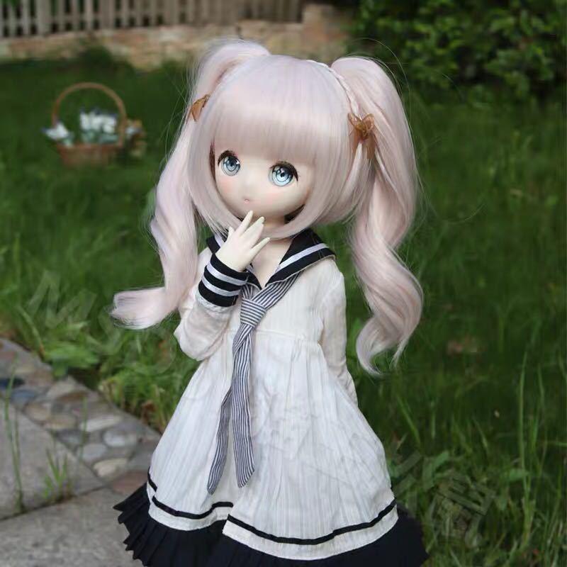 BJDドール用ウィッグ MDD/SD/DDサイズ 8-9インチ ツインテール 球体関節人形 doll 女用_画像2