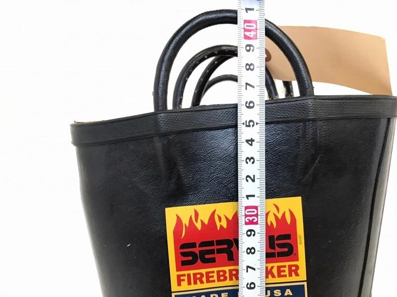 【米軍放出品】SERVUS 消防士用ブーツ サイズ6W(24cm) 長靴 ファイヤーマンブーツ (100)☆BJ7CK-2_画像8