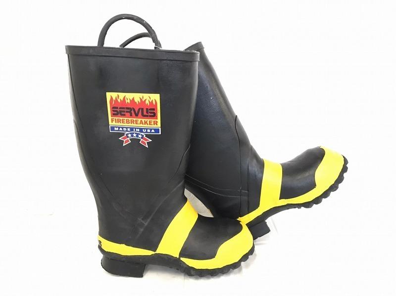【米軍放出品】SERVUS 消防士用ブーツ サイズ6W(24cm) 長靴 ファイヤーマンブーツ (100)☆BJ7CK-2_画像5
