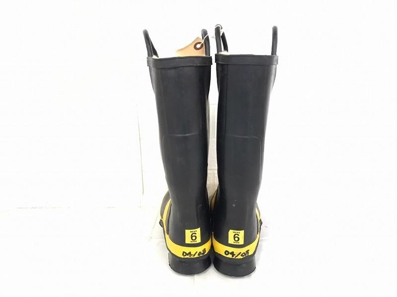 【米軍放出品】SERVUS 消防士用ブーツ サイズ6W(24cm) 長靴 ファイヤーマンブーツ (100)☆BJ7CK-2_画像4